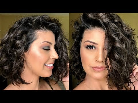 How To: Style Short Wavy/Curly Hair