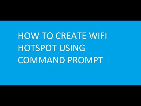 How To Create WiFi Hotspot Using Command Prompt