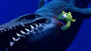 ONE SMALL FISH DEFEATS A MOSASAURUS?! - Feed and Grow Fish - Part 52 | Pungence