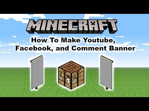 Minecraft How To Make A YouTube, Facebook, and Comment Banner.