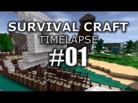 Survival craft timelapse  ship build