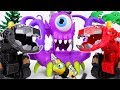 A Giant Purple Monster From The Sea Go Dinotrux Defeat The Monster