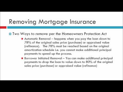 How To Remove Mortgage Insurance (MI or PMI)