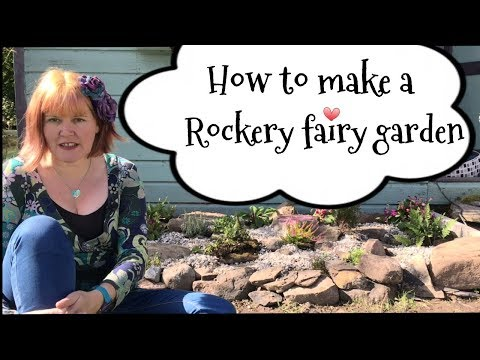 How to make a fairy garden rockery for kids. Fairy garden ideas.