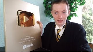 1 Million Subscribers Gold Play Button Award Unboxing