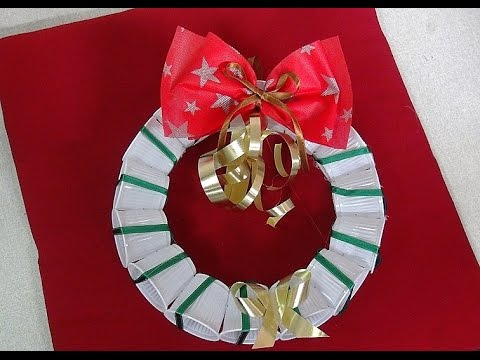 Plastic Cup Christmas Wreath