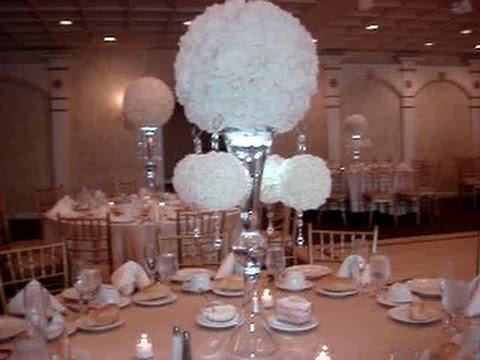 Rose Ball Wedding Centerpiece Rentals at Woodbury Country Club NY