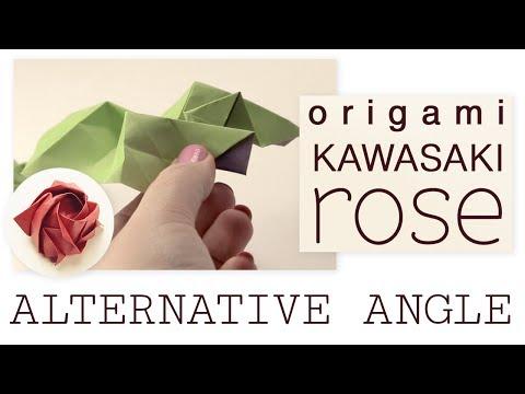 Origami Kawasaki Rose Tutorial - Alternate Angle for Assembly - Paper Kawaii