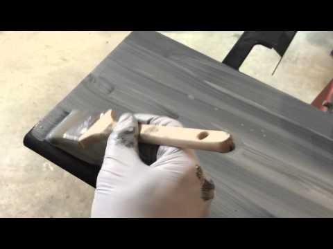Custom Stair Tread Stain (Layering)