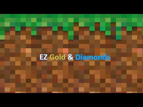 Minecraft PE how to find gold and diamond