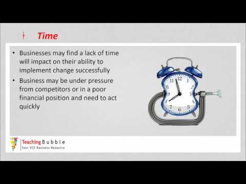 VCE Business Management - Restraining Forces
