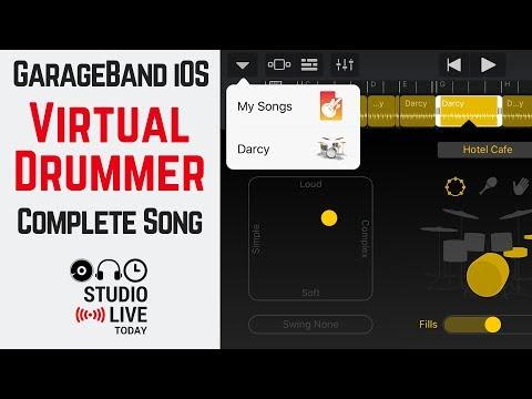 How to create a virtual drummer track in GarageBand iOS