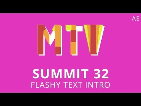 Summit 32 - Flashy Text Intro - After Effects