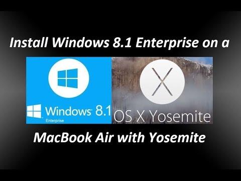 Install Windows 8.1 Enterprise on a MacBook Air OS X Yosemite