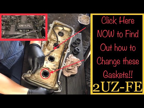 Toyota V8 2UZ-FE Valve Cover Gasket replacement / Install : How to ep 16