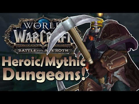 Dark Iron Dwarf Gameplay | Heroic/Mythic Dungeons (Testing NEW Fury!) - Battle for Azeroth Beta