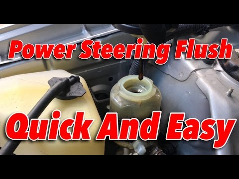 DIY POWER STEERING FLUSH IN 5 MINUTES!! Link to MightyVac in Discription