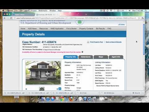 Bid and Buy HUD homes