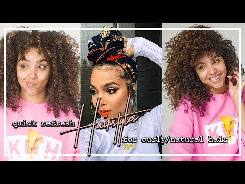 Quick Refresh Hairstyles for Curly Natural Hair!