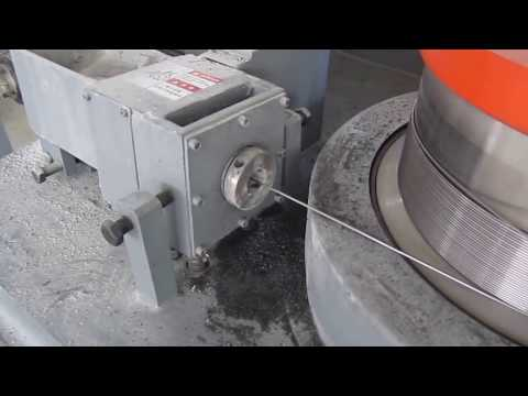 fine(work) live video of wire drawing machine