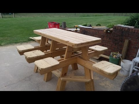 How to build an 8 seat bar stool picnic  table chapter 2.
