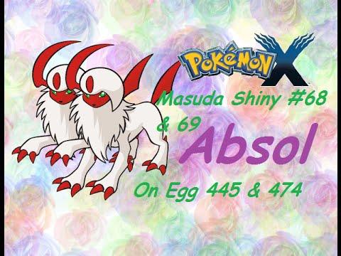 Live! Shiny Absol via Masuda Method after 445 Eggs + Surprise [ Pokemon X ]