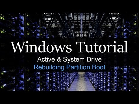 Windows Tutorial - Active and System Partition Fix