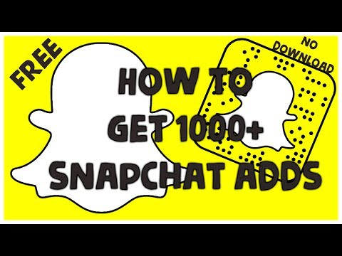 How To Get 1000+ Plus New Adds On Snapchat 2017 November 2017 (No Download No Computer) Free