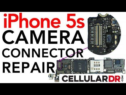iPhone 5s Main Rear Broken Camera FPC Connector Plug FIXED Legit Repair Shop vs Hole In The Wall