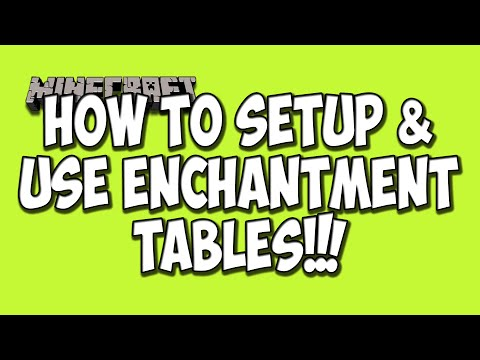 How To Setup And Use Enchantment Tables Minecraft Tutorial 1 8