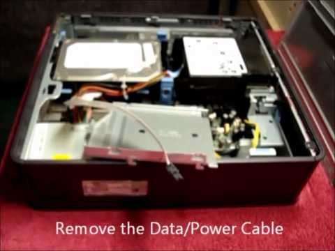 How to change / install / remove / CD / DVD Drive in a Dell GX520 or GX620 SFF Computer