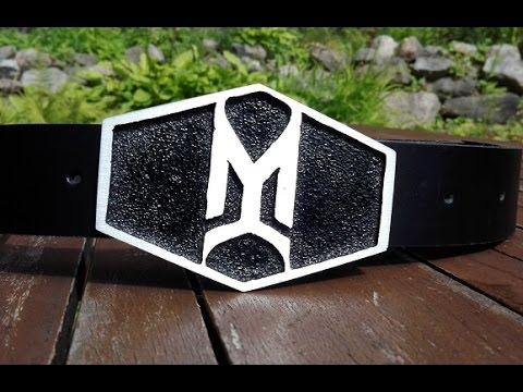 DIY aluminium belt buckle.