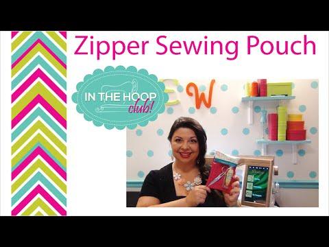 Easy Vinyl Zipper Pouch - In The Hoop Project - Easy In the Hoop project ,
