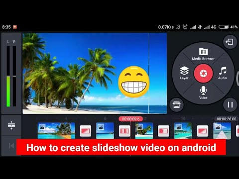 how to create slideshow on android using kinemaster