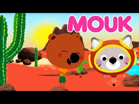 Mouk - Canyon Explorers (Arizona - USA) and Walking on the moon (Turkey) | Cartoon for kids