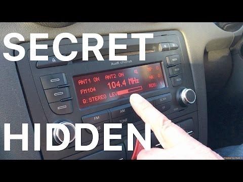 Easily Find The Secret Hidden Menu On Your Audi Chorus Radio