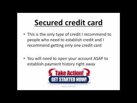 Secured credit card- rapidly increase credit score  That Money Mentor