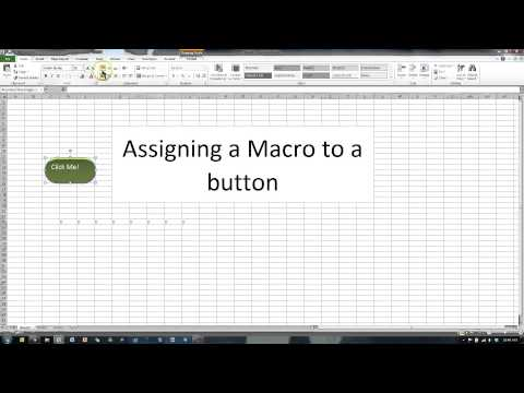Assign Macro to Button in Excel 2010