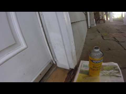 Repair a damaged door threshold  using chemicals quick and very easy