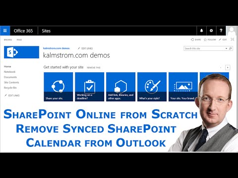 Remove Synced SharePoint Calendar from Outlook
