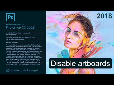 How to turn off artboards in Photoshop CC 2018