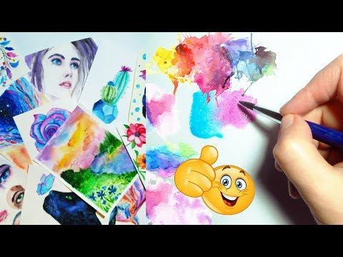 Speed Painting Watercolor Art Compilation - Satisfying Art Video / Spring 2018