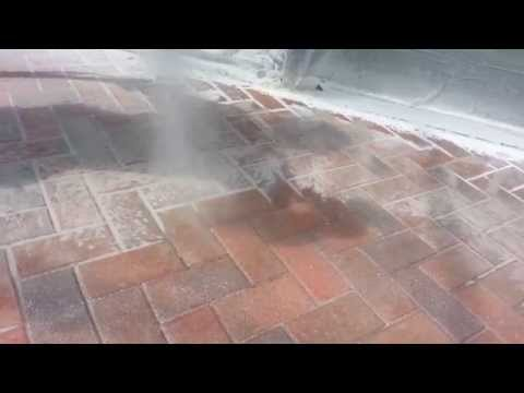 Stripping sealer from brick pavers