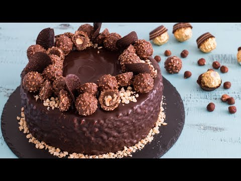 Ferrero Rocher Cake  - 4k video
