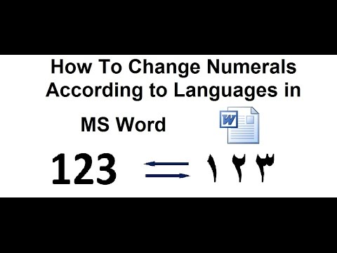 How to Change English Numbers to Arabic Numbers in MS Word ?