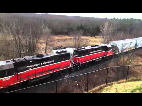 04.12.11 P&W train in Lisbon, CT behind Home Depot