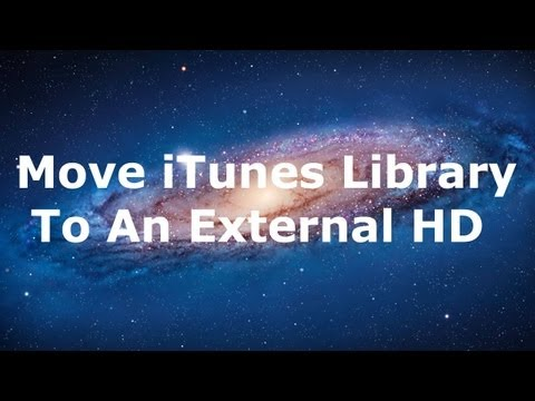 How to move your iTunes library to an external hard drive