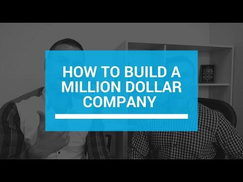 How To Build a Million Dollar Company: Zero to a Million