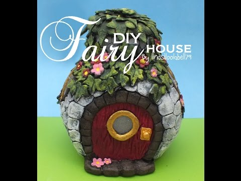 Fairy house, speed through. quick speedy video showing how I make my clay airdry clay fairy houses