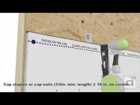 How To Animation: Dupont ThermaWrap R5.0 at base of wall